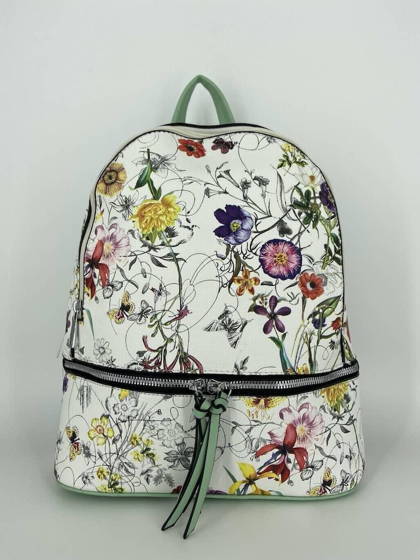 NYÁRI női hátizsák virág mintával